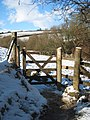 Gate on the footpath leading from Porth Sawsen to Carwinion - geograph.org.uk - 1149822.jpg