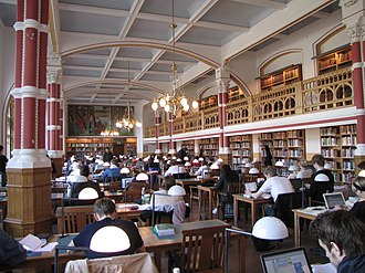University of Gothenburg - Library of social sciences, silent reading hall