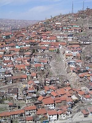 Gecekondu - A gecekondu region in Ankara, Turkey.