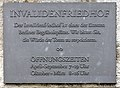 Gedenktafel Scharnhorststr 33 (Mitte) Invalidenfriedhof.jpg