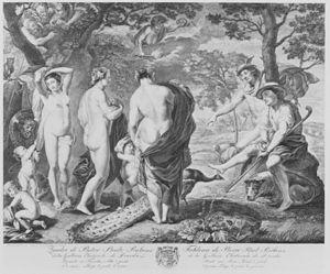Jacques-Nicolas Tardieu - Judgment of Paris – Jacques Nicolas Tardieu and Pierre Etienne Moitte after Peter Paul Rubens