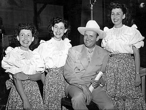 Gene Autry - Gene Autry with the Pinafores, who sang on his weekly radio show, 1948