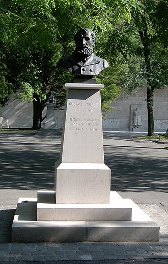 Gustave Moynier - Monument to Gustave Moynier in Geneva's Parc des Bastions