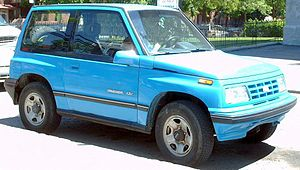 1992-1997 Geo Tracker photographed in Montreal...