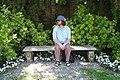 Geoff Lloyd on a bench 31 May 2006.jpg