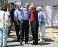George Bush talks with residents in Biloxi, August 2006.jpg