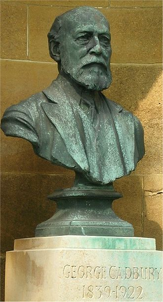 George Cadbury - Bronze bust at Friends meeting house, Bournville