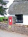 George VI Postbox, Webberton Cross - geograph.org.uk - 1306685.jpg