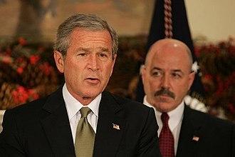 Bernard Kerik - President George W. Bush announcing Kerik's nomination to be the Secretary of Homeland Security in 2004