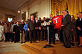 George W. Bush meets with Sooners football team 20010305-9.jpg