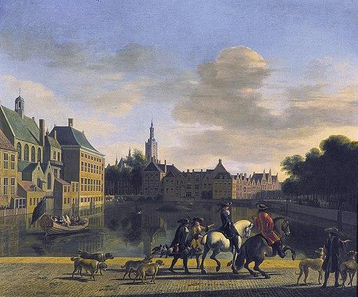 Gerrit Adriaensz. Berckheyde - De Hofvijver gezien vanaf de Korte Vijverberg