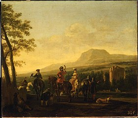 Hunting Scene with a Castle