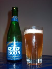 Geuze (Boon, Mariage Parfait) from a 375ml bottle.