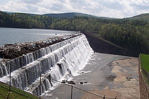 Schoharie Reservoir - The Gilboa Dam overflowing