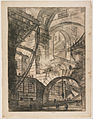 Giovanni Battista Piranesi - Perspective of Arches, with a Smoking Fire, Plate 6 from Carceri d'Invenzione - Google Art Project.jpg