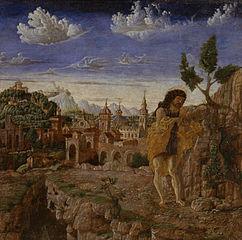 Saint John the Baptist in a Landscape