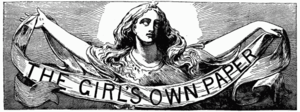 Joseph Edwards (sculptor) - Image: Girl's Own Paper masthead