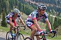 Giro d'Italia 2012, 084 pampeago de greef en hansen (17760491796).jpg