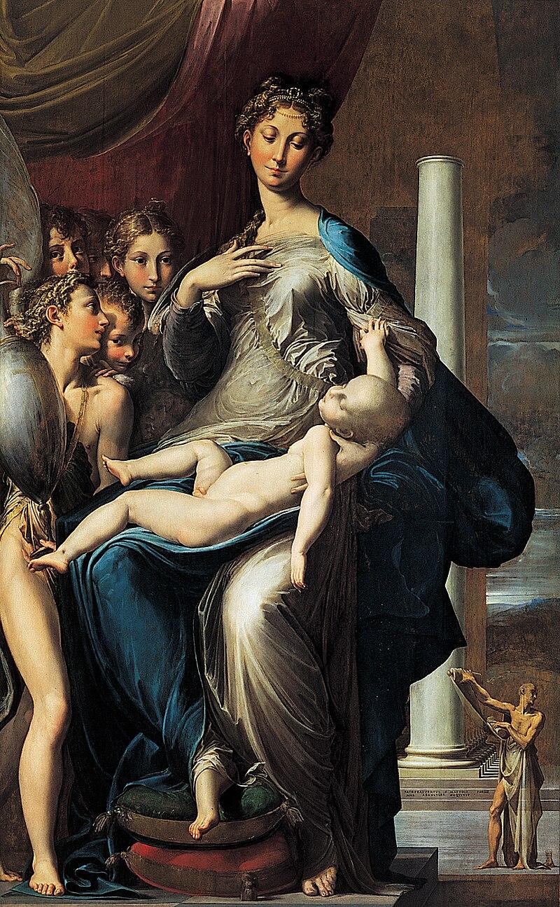 La Virgen del cuello largo (hacia 1535) es la obra más elogiada de Parmigianino