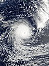 Satellite image of Cyclone Gita