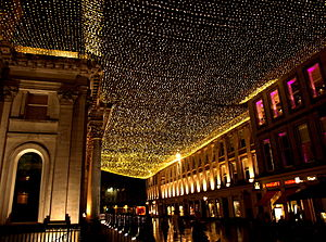 Glasgow city centre - Royal Exchange Square at night (Merchant City)