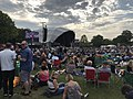 Glastonbury Extravaganza 2019 showing stage and people picnicking.jpg