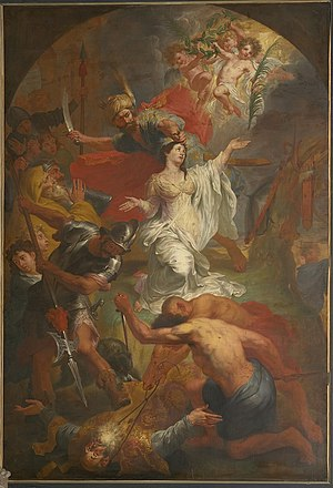 Dymphna - The beheading of Saint Dymphna by Godfried Maes