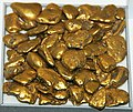 Gold fluvial pebbles (placer gold) (Washington State, USA) 1 (16845263030).jpg