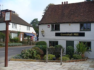 Gomshall - Image: Gomshall Post Office and Mill geograph.org.uk 577962