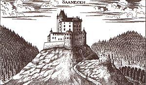 Žovnek Castle - Žovnek Castle, Georg Matthäus Vischer, Topographia Ducatus Stiriae, Graz 1681