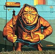 cc2669df8 Graffiti on a wall in Budapest