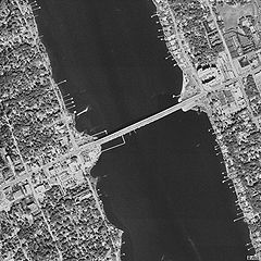Aerial View Of Granada Bridge In Ormond Beach