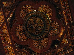 Caisson (Asian architecture) - A modern caisson in traditional style, in the Grand Hotel, Taipei