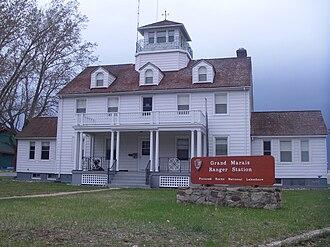 Grand Marais, Michigan - Former Grand Marais Life-Saving Station, now serving as a Ranger Station