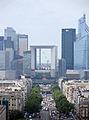 Grande Arche from Arc de Triomphe, Paris June 2014.jpg