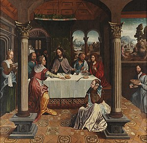 Grão Vasco - Jesus in the House of Marta (c. 1535), by Grão Vasco, now at the Grão Vasco Museum