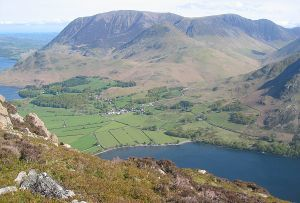Grasmoor - The huge bulk of Grasmoor above the Crummock Water valley