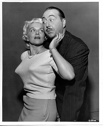 The Great Gildersleeve - Willard Waterman and Stephanie Griffin in the TV series The Great Gildersleeve, 1955