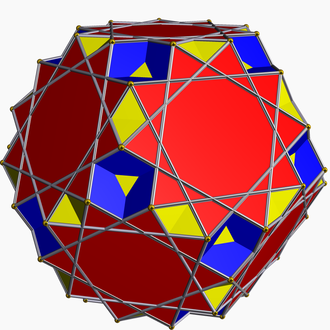 Great ditrigonal dodecicosidodecahedron - Image: Great ditrigonal dodecicosidodecahedr on