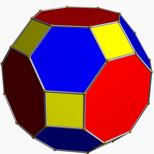 Zero-symmetric graph - The truncated cuboctahedron, a zero-symmetric polyhedron