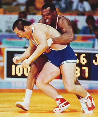 Shasta High School - Image: Greco Roman wrestling competition at the 1984 Summer Olympics