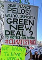 Green New Deal banner, 15 March 2019 (cropped).jpg