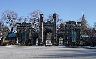 Green Mount Cemetery - The Main Gate at the Green Mount Cemetery.