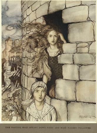 Maid Maleen - Arthur Rackham, 1917