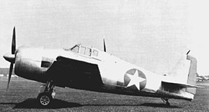 Grumman F6F Hellcat - The unpainted XF6F-1 prior to its first flight