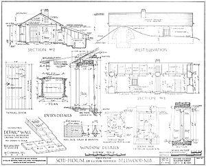 Gustav Rohrich Sod House - Schematic and details