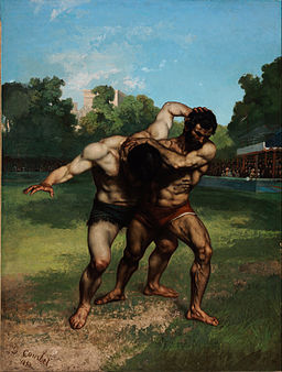 Gustave Courbet - The Wrestlers - Google Art Project