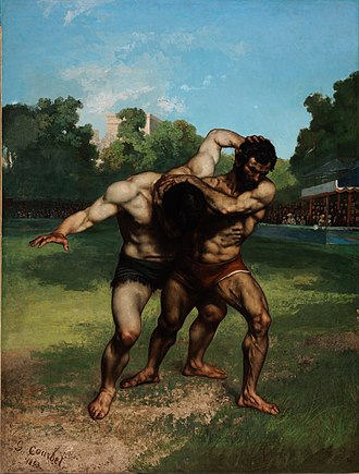 The Wrestlers (Courbet) - Image: Gustave Courbet The Wrestlers Google Art Project
