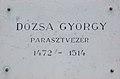 György Dózsa plaque, 2018 Oroszlány.jpg