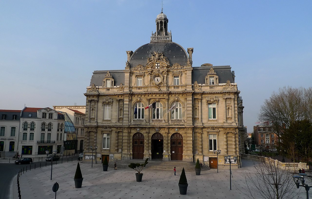 file h tel de ville tourcoing town hall wikimedia commons. Black Bedroom Furniture Sets. Home Design Ideas